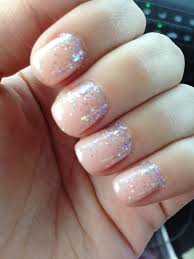 my wedding nails opi gel color passion sprinkled with iridescent