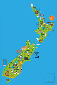 New Zealand Map Campbell Partner Resources English Language Nz The