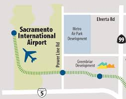 Sacramento Light Rail Map Sacramento International Airport Green Line 2 Airport