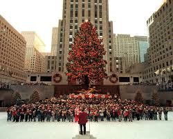 pictures of the rockefeller christmas tree through years since