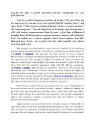 notes on the common microeconomic problems in the philippines
