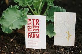 Farm Business Card Yellowtree Farm Business Card In Beautiful