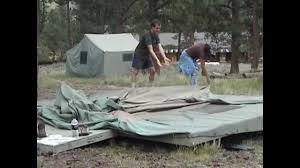 folding a platform cabin tent youtube