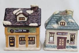 dickens candle holders set ceramic