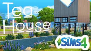 the sims 4 speed build modern japanese tea house youtube