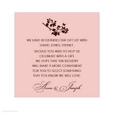 gift registries wedding bridal shower gift registry insert wording search