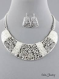 metal necklace set images Bib metal necklace set jpeg