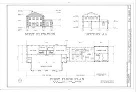file west elevation section and first floor plan macdill air