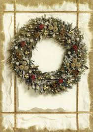 deluxe glitter wreath card by lpg greetings
