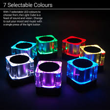 eluma lights speaker system light cube portable bluetooth speaker