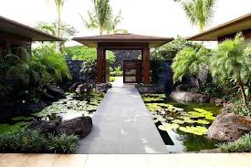 exterior design backyard pond pictures with concrete patio ideas