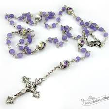 purple rosary best amethyst rosary products on wanelo