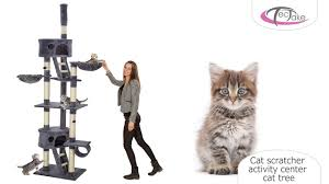 Cat Scratcher Tectake Cat Scratcher Activity Center Cat Tree Youtube