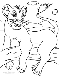 printable simba coloring pages