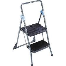 cosco commercial 2 step folding step stool gray csc11829ggb