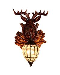 Wall Light Shades Deer Head Shaped Wall Sconce With Shining Raindrop Shape Shade