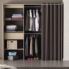 rideau placard chambre kit placard extensible 114 cm à 168 cm chêne brossé chicago dya