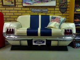 Man Cave Sofa by Ford Mustang Couch Automotive Furniture Pinterest Couch