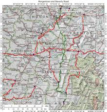 Mansfield Ohio Map by Historic Roads Paths Trails West Virginia Tennessee Kentucky
