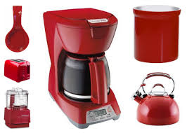 red kitchen appliances home decoration ideas