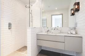 Tiled Vanity Tops Tile Brick Pattern Bathroom Contemporary With Rogerseller Vanity