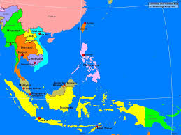 East Asia Map Southeast Asia Political Map Cia The South China Sea For And East