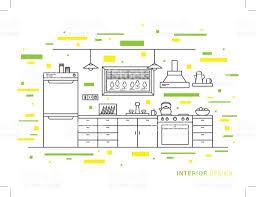 Modern Designer Kitchen Design Illustration Of Modern Designer Kitchen Interior Space
