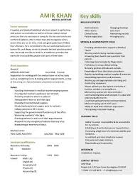 Example Medical Resume by Resume Templates For Medical Assistant Example Medical Assistant