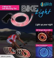 bike wheel lights 20 inch bright micro led cycle lighting