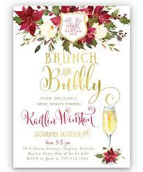 bridal shower invitations brunch brunch bubbly bridal shower invitation winter floral