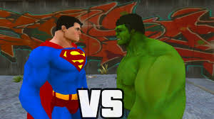 superman hulk combate