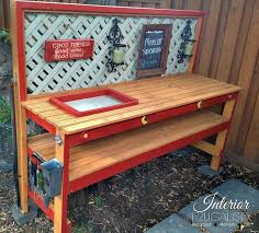 Outdoor Potters Bench A Simple Diy Potting Bench You Can Make In A Day The Interior