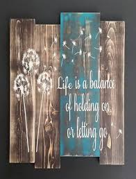 dandelion wood plaques wall 158 best pallet signs images on wood deco