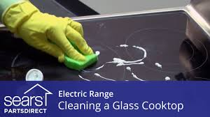 Cleaning Ceramic Glass Cooktop How To Clean A Glass Cooktop On An Electric Range Youtube