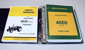 john deere 4020 4000 tractor technical service manual parts
