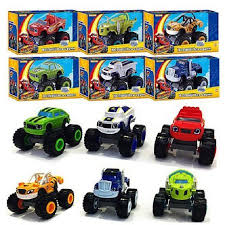 6pcs monster truck scooter toys blaze monster machines flame