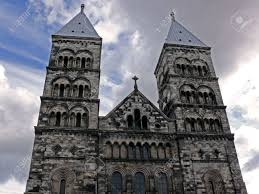 Of Lund Stock Photos Of Lund Stock Images Portrait Of Cathedral Of Lund Sweden Built 1085 Stock Photo
