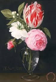 Glass Vase Painting Daniel Seghers Flowers In A Glass Vase Painting Flowers In A