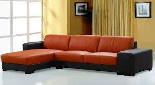 orange leather sectional sofa dico sectional sofa in brown orange leather by beverly hills