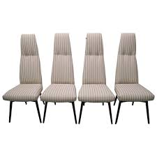 four adrian pearsall high back dining chairs by craft associates