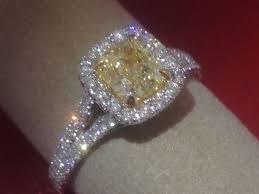 yellow engagement rings canary cushion cut engagement rings engagement ring usa