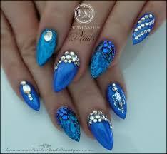 blue and gold nail designs choice image nail art designs