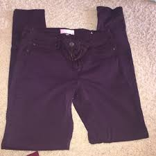 Plum Skinny Jeans 63 Off Garage Denim Size 7 Maroon And Plum Skinny Jeans From