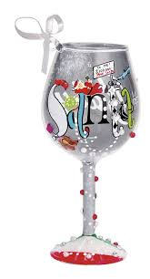 34 best wine glass ornaments images on glass ornaments