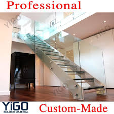 Glass Staircase Design Prefabricated Stairs Steel Stringer Interior Stair Design View