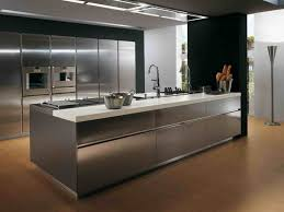 unique stainless steel kitchen island for deluxe kitchen design