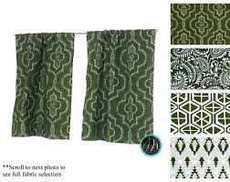 Green Grommet Curtains Green Curtains Etsy