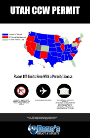 Utah Concealed Carry Permit Reciprocity Map by