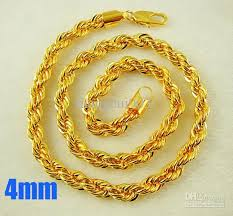 gold chain necklace rope images 2018 new arrival gold plated 4mm rope chain necklace men 39 s jewelry jpg