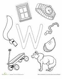 9 best letter w worksheets images on pinterest alphabet letters